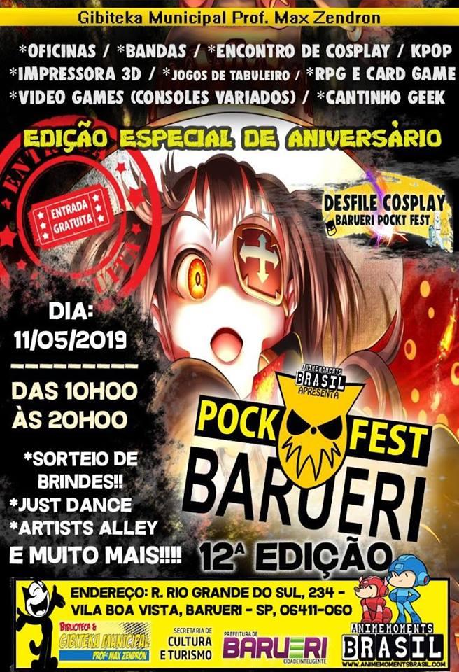 Barueri Pock Fest 12ª edição – Aniversário De 1 Ano de Projeto
