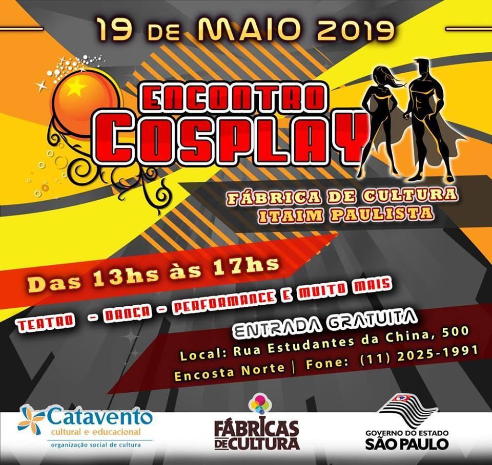 Encontro Cosplay – FC Itaim Paulista - Dia 19 de maio de 2019