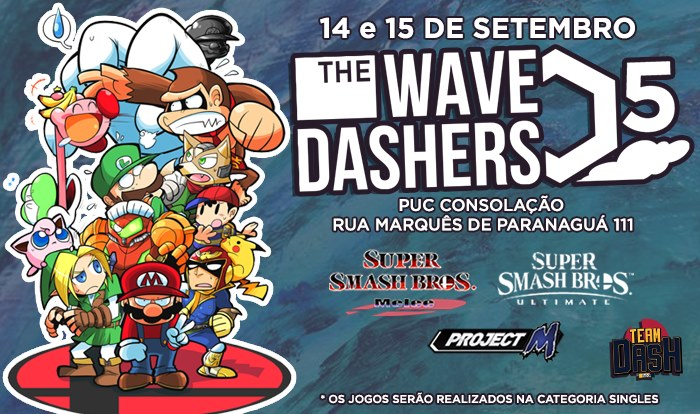 Wavedashers 5 - Torneio Ultimate, PM e Melee Singles