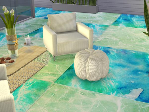 Pisos de oceano para The Sims 4