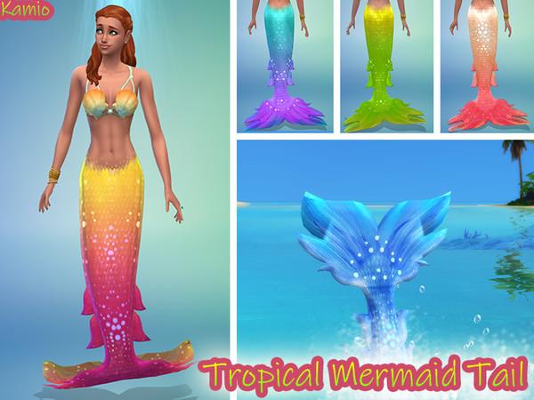 Cauda de sereia para The Sims 4 Ilhas Tropicais
