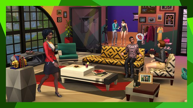 The Sims 4 Moschino estúdio