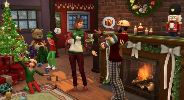 Conteúdo personalizado de Natal para The Sims 4