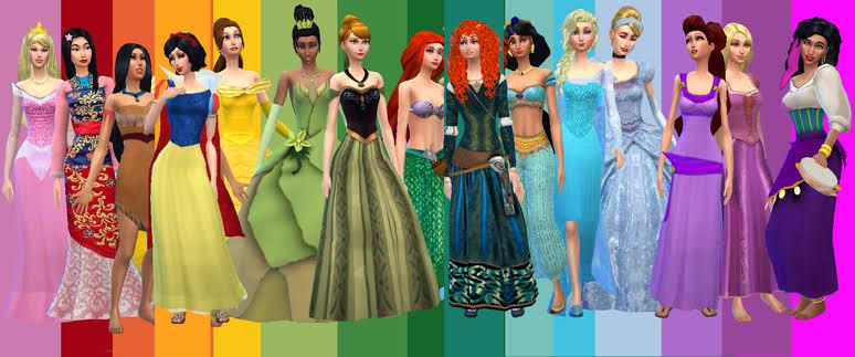 Desafio Princesas da Disney The sims 4