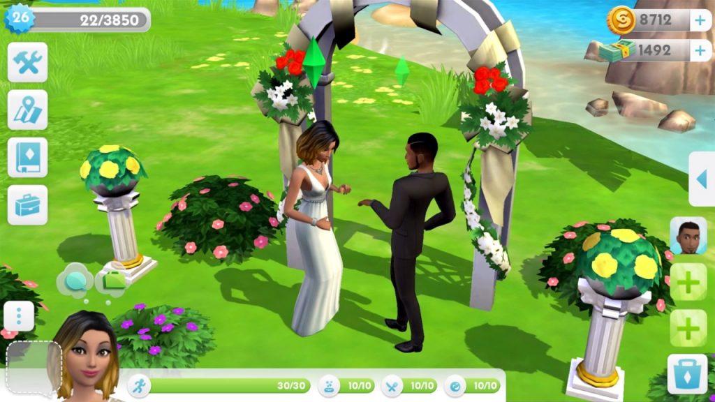 Casamento no The Sims Mobile