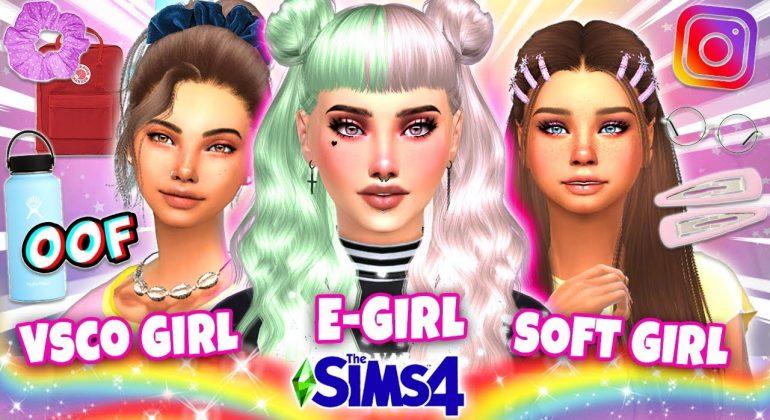 Conteúdo personalizado E-Girl The Sims 4 FOTO: Clare Siobhan