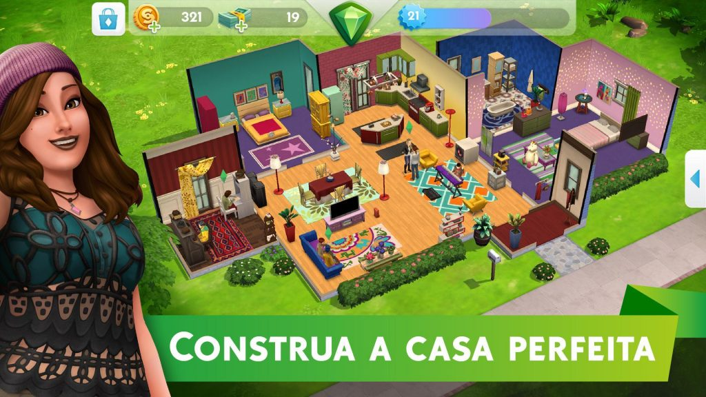 Construções no The Sims Mobile