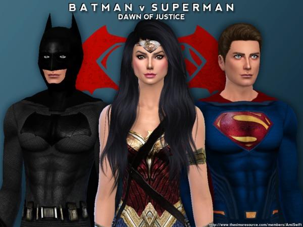 Conteúdo personalizado de Super-Heróis para The Sims 4