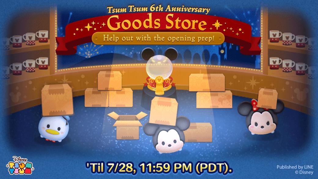 Evento de julho do Tsum Tsum: 6th Anniversary, Goods Store