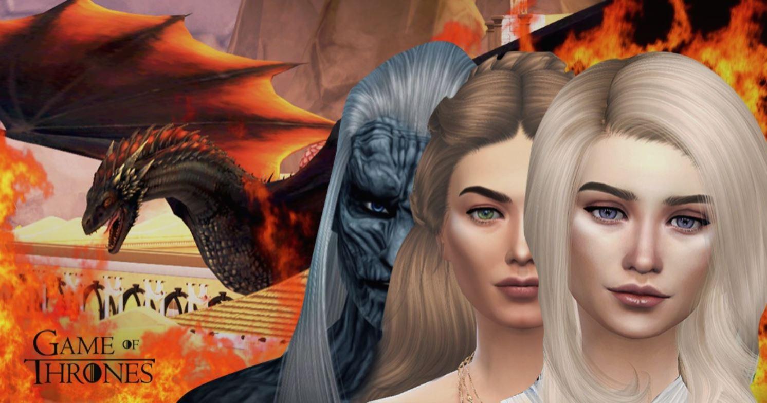 Desafio de Game of Thrones para The Sims 4