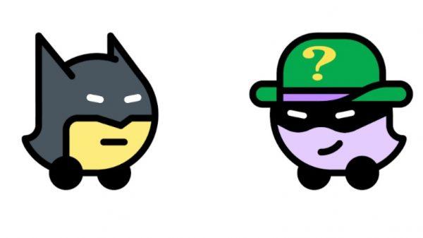 Batman e O Charada, de Gotham City para o Waze