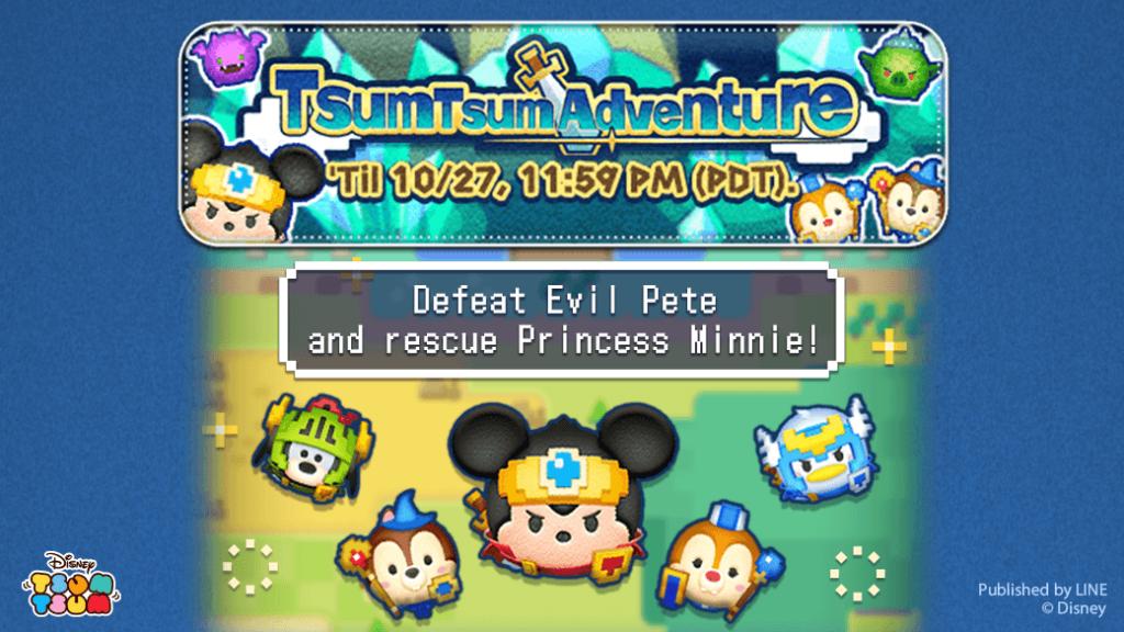 Evento de outubro do Tsum Tsum: Adventure!