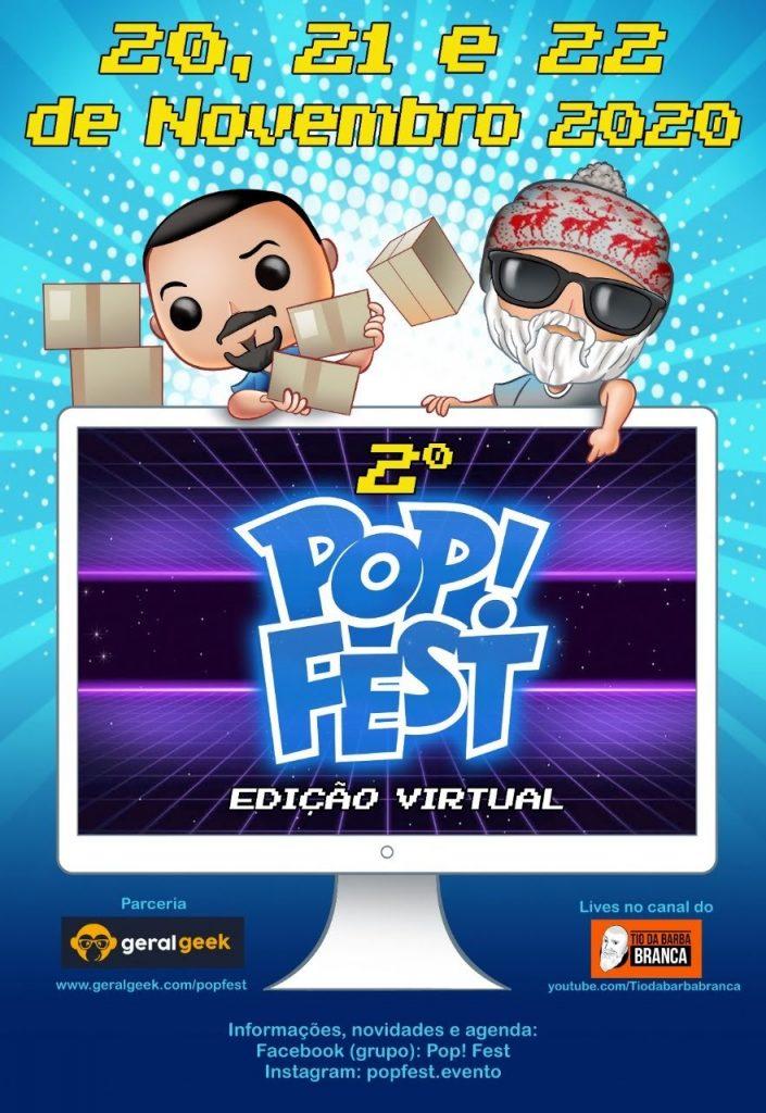 2º Pop Fest: Encontro virtual de colecionadores