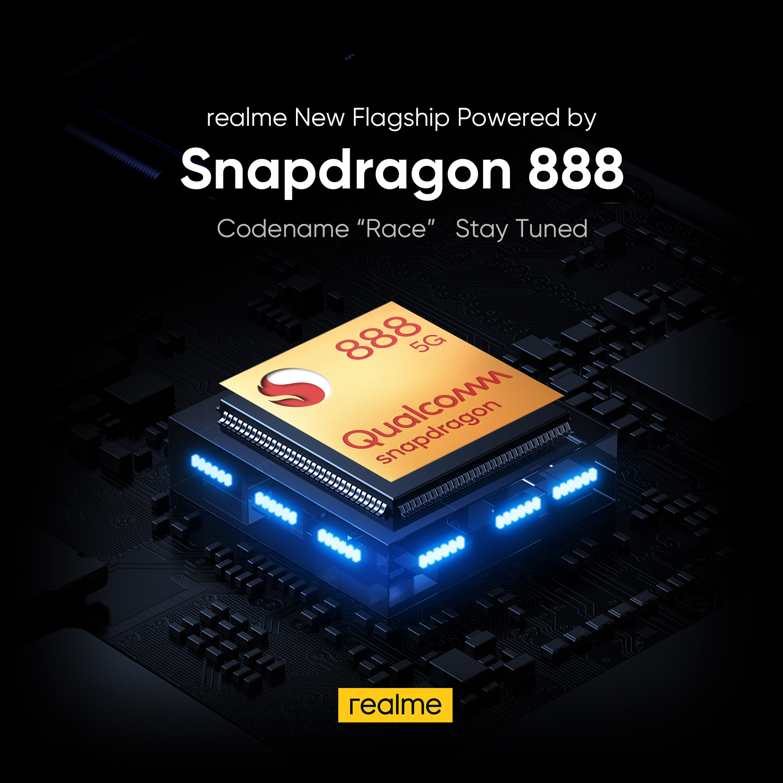 """Novo realme """"Race"""" desenvolvido pela plataforma Snapdragon 888 5G mais recente da Qualcomm"""